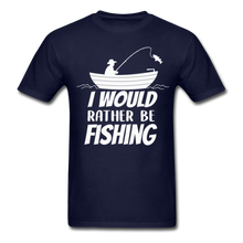 Load image into Gallery viewer, I would rather be fishing - navy