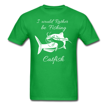 Load image into Gallery viewer, I would rather be fishing Catfish - bright green