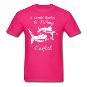 I would rather be fishing Catfish - fuchsia