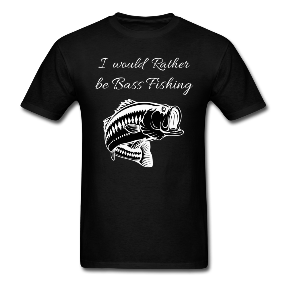I would rather be Bass fishing - black