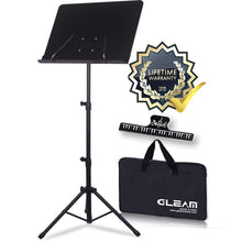 Load image into Gallery viewer, GLEAM Sheet Music Stand Metal with Carrying Bag
