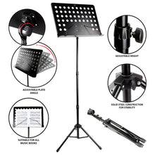 Load image into Gallery viewer, RockJam G905 Orchestral Conductors Stand