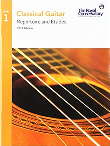Guitar Repertoire and Etudes Level 1 - RCM