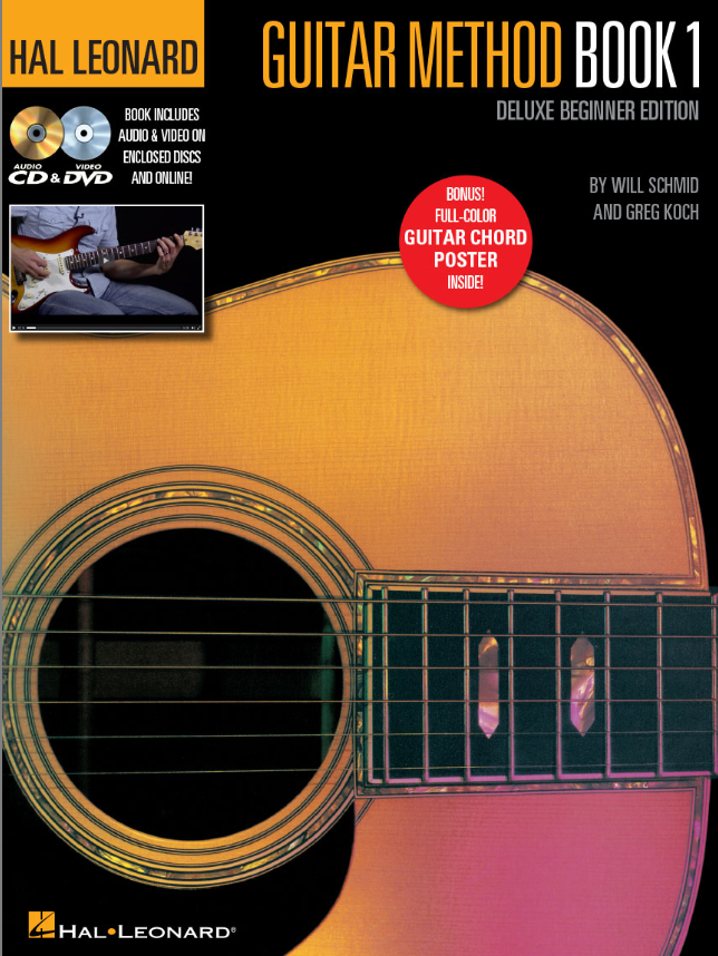 HAL LEONARD GUITAR METHOD – BOOK 1, DELUXE BEGINNER EDITION Book and CD