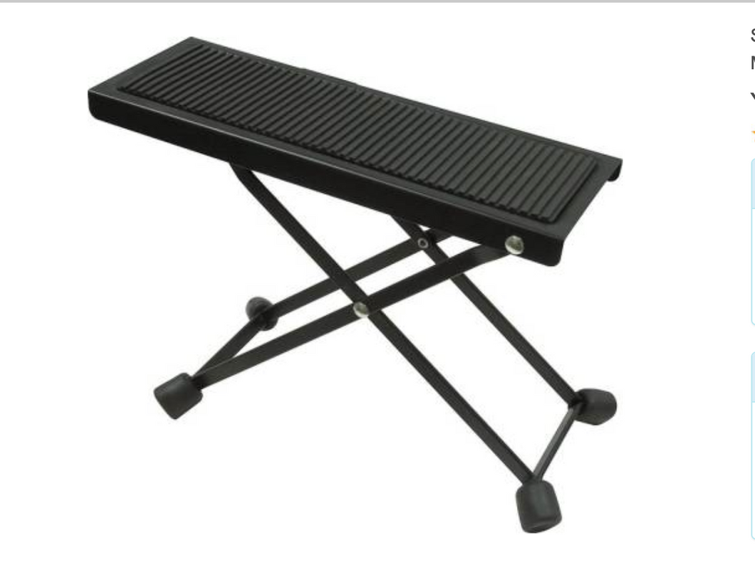 Yorkville Sound Guitar Foot Stool