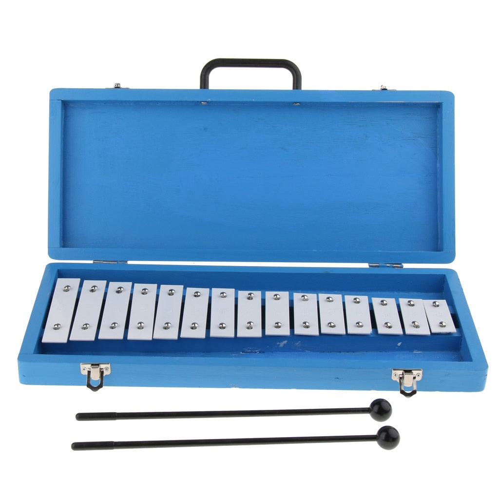 15 Note Xylophone Glockenspiel in Hard Protective Case for Baby Kids Early Musical Developmental Toy