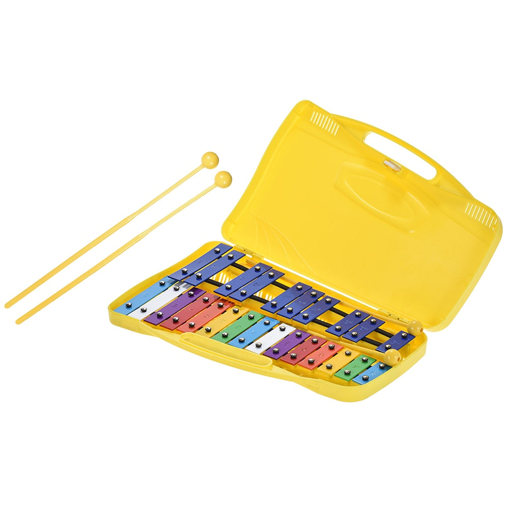 Colorful 25 Notes Glockenspiel Xylophone