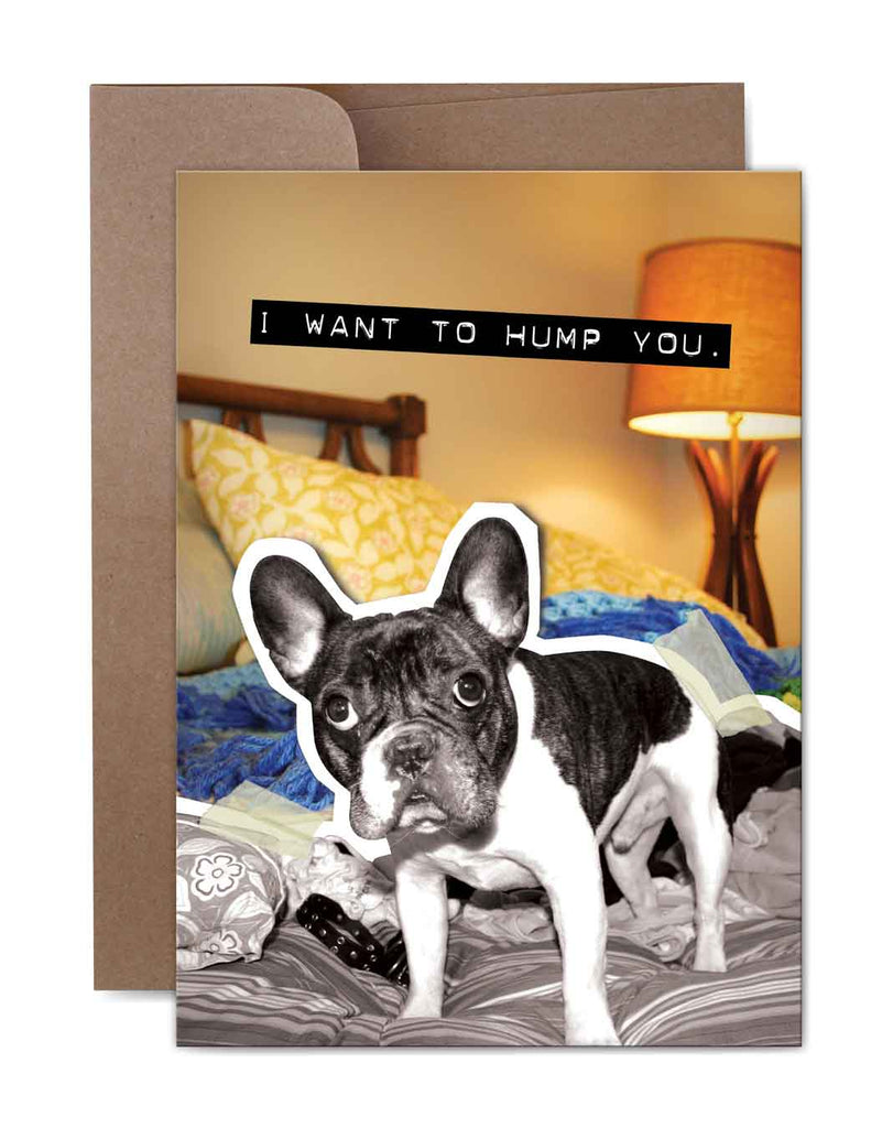 I Want to Hump You Love Card Front
