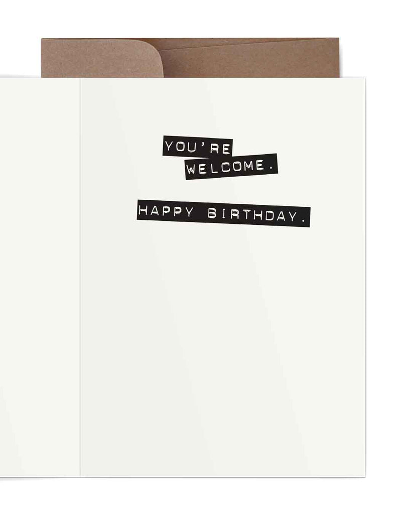 Lick Myself Birthday Card Inside