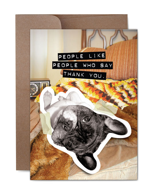 People Like People Thank You Card Front