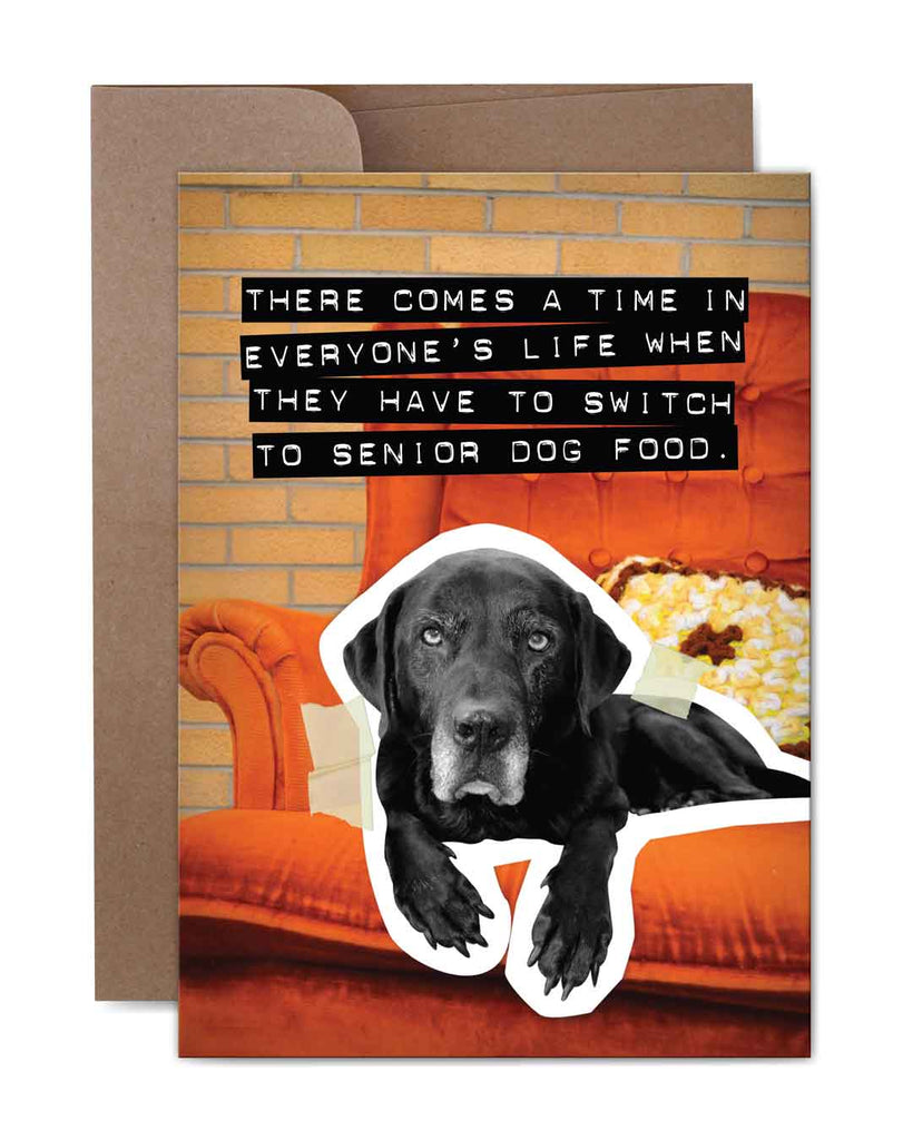 Senior Dog Food Birthday Card Front