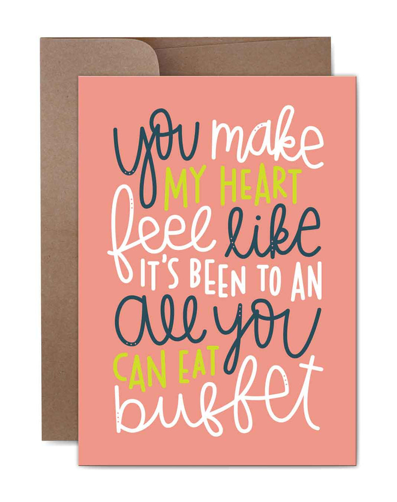 All You Can Eat Buffet Birthday Card Front