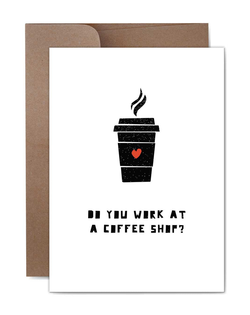 Coffee Shop Love Card