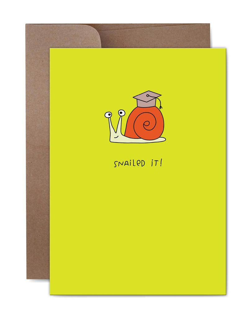Snailed It Graduation Card