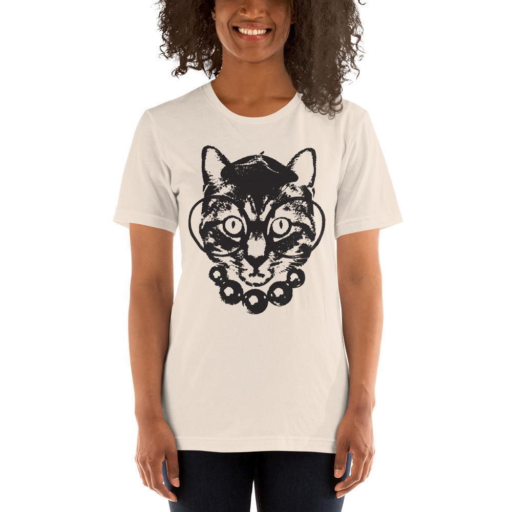 Women's Purrrfection Darling Graphic Tee - Soft Cream
