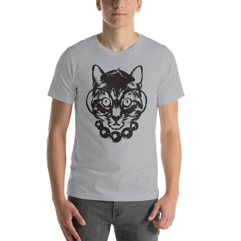 Men's Purrrfection Darling Graphic Tee - Silver