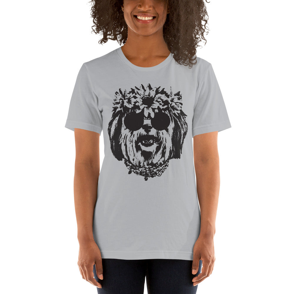 Women's Be Groovy or Leave Graphic Tee - Silver