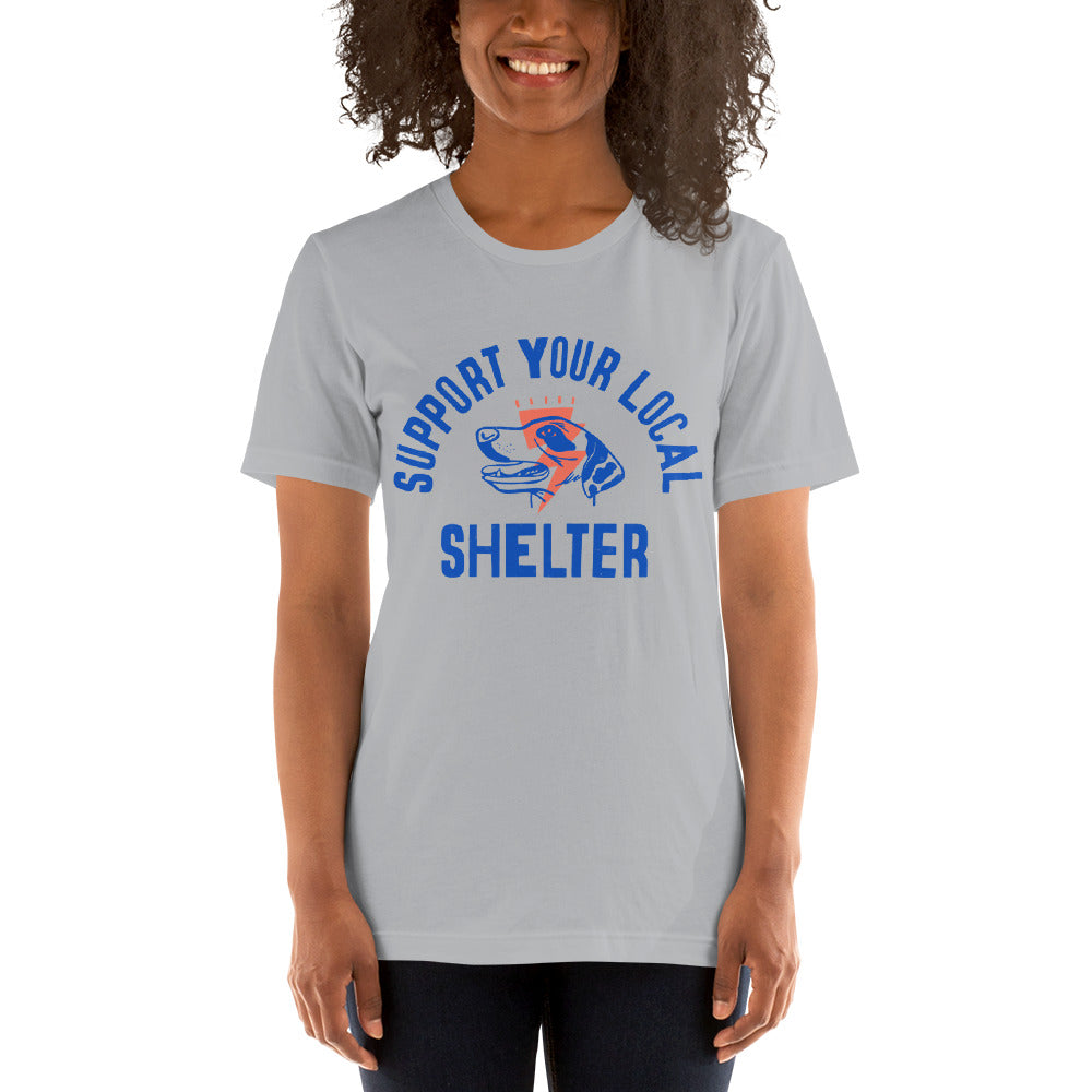 Women's Support Your Local Shelter Graphic Tee