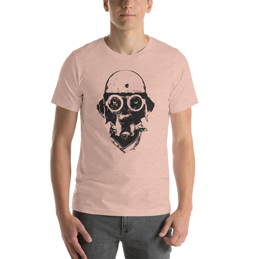 Men's Ride On Graphic Tee - Heather Prism Peach