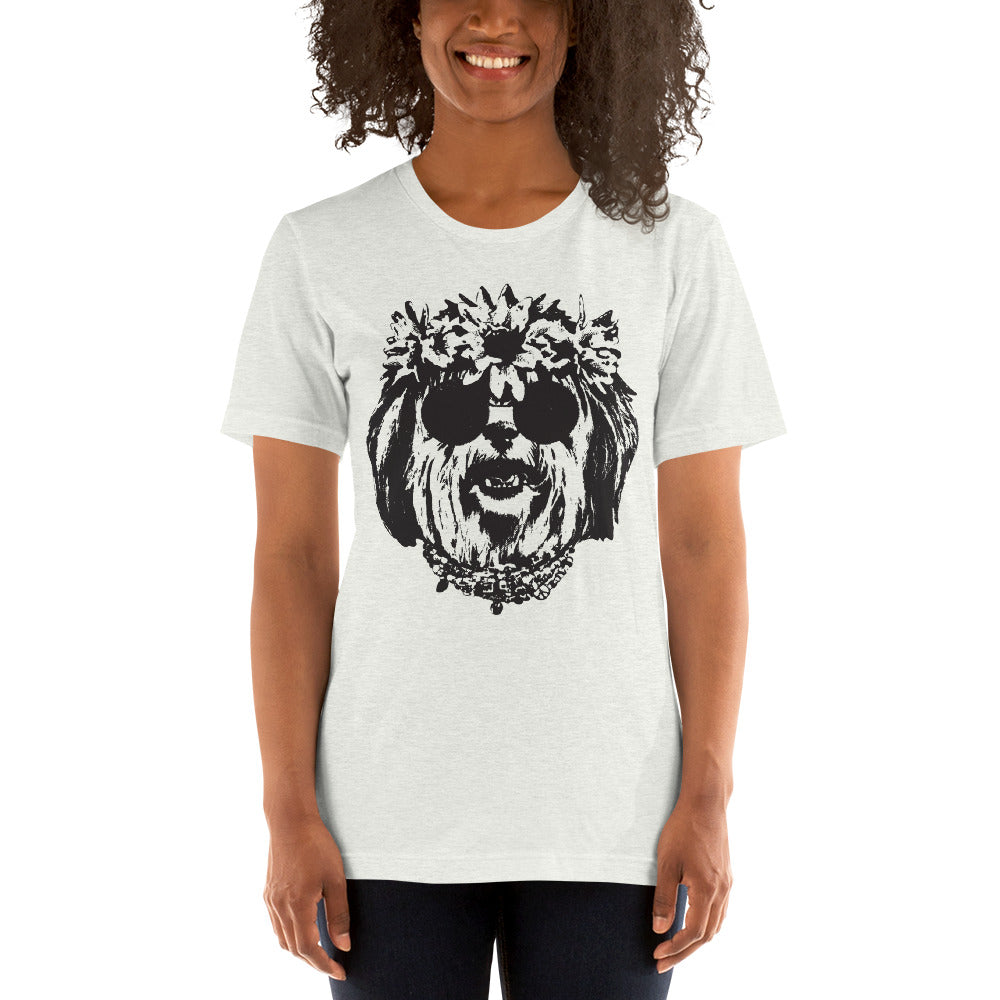 Women's Be Groovy or Leave Graphic Tee - Ash