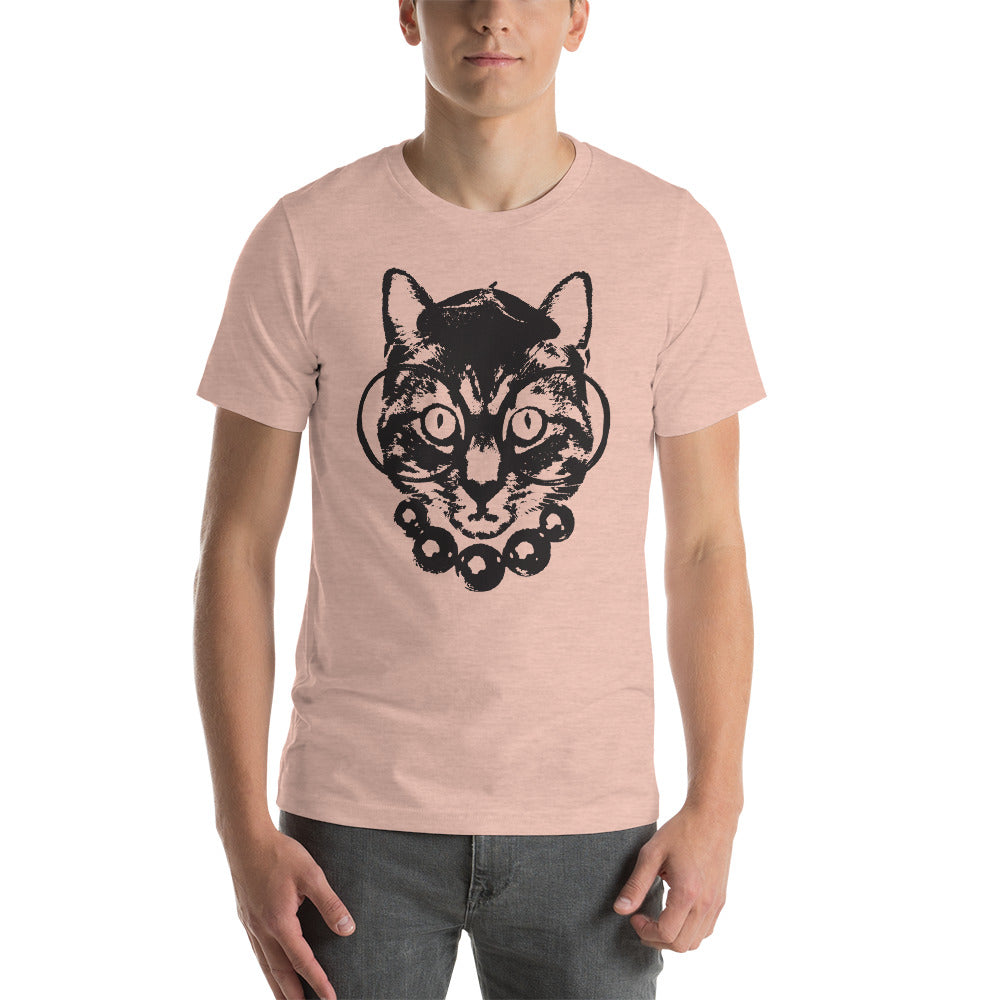 Men's Purrrfection Darling Graphic Tee - Heather Prism Peach
