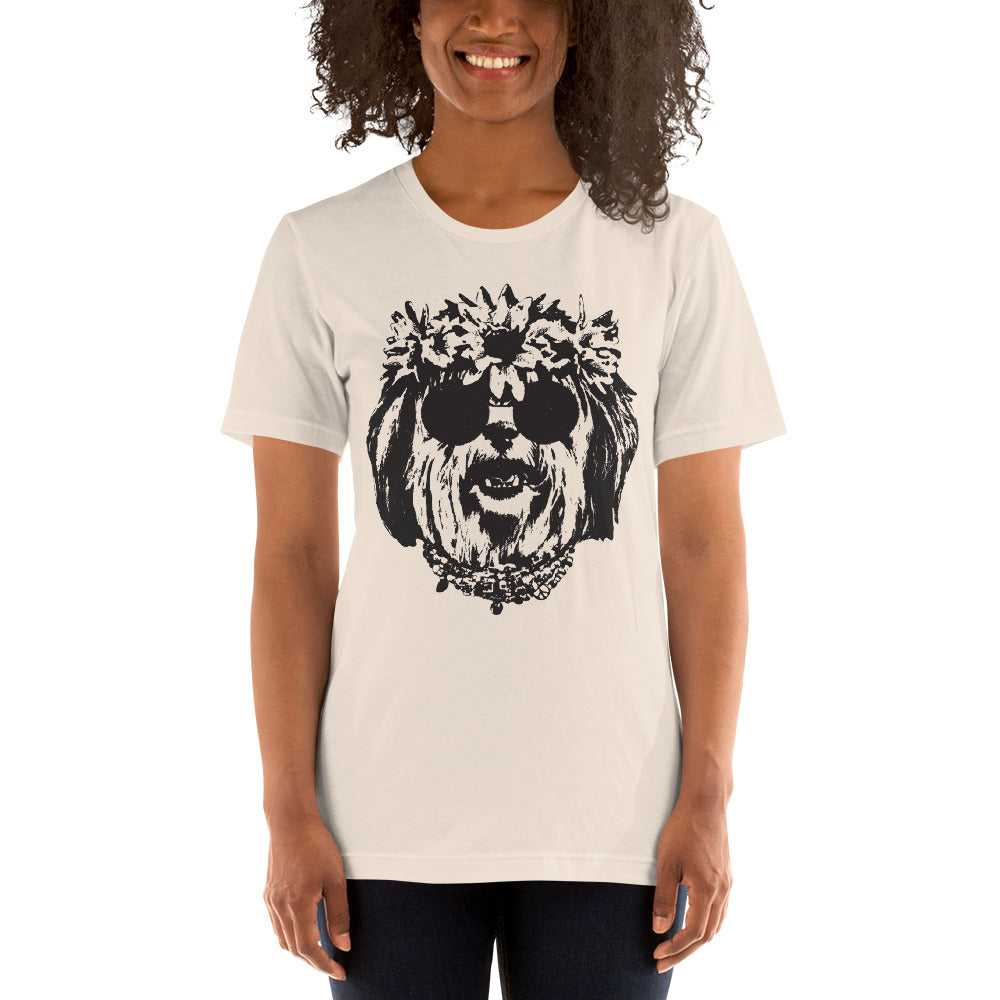 Women's Be Groovy or Leave Graphic Tee - Soft Cream