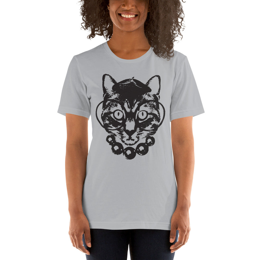 Women's Purrrfection Darling Graphic Tee - Silver