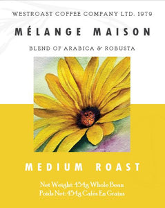 Melange Maison Blend Filter Coffee Net Weight: 454g.