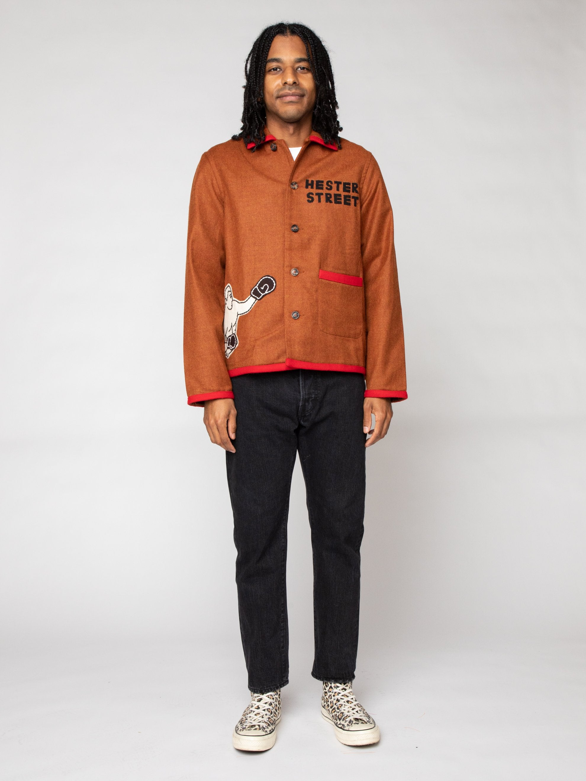 Boxing Felt Shirt Jacket