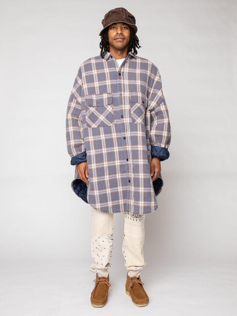 Flannel Check x Quilting Sloppy Shirt Coat16191245320269
