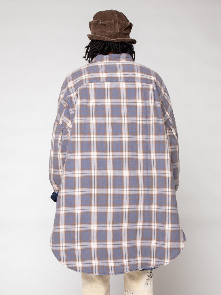Flannel Check x Quilting Sloppy Shirt Coat16191247253581