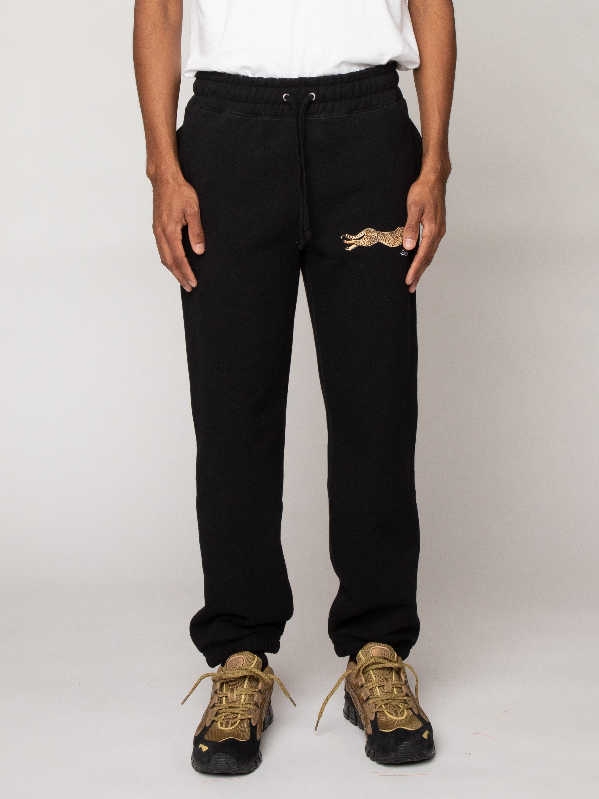 Black Cheetah Sweatpants 2