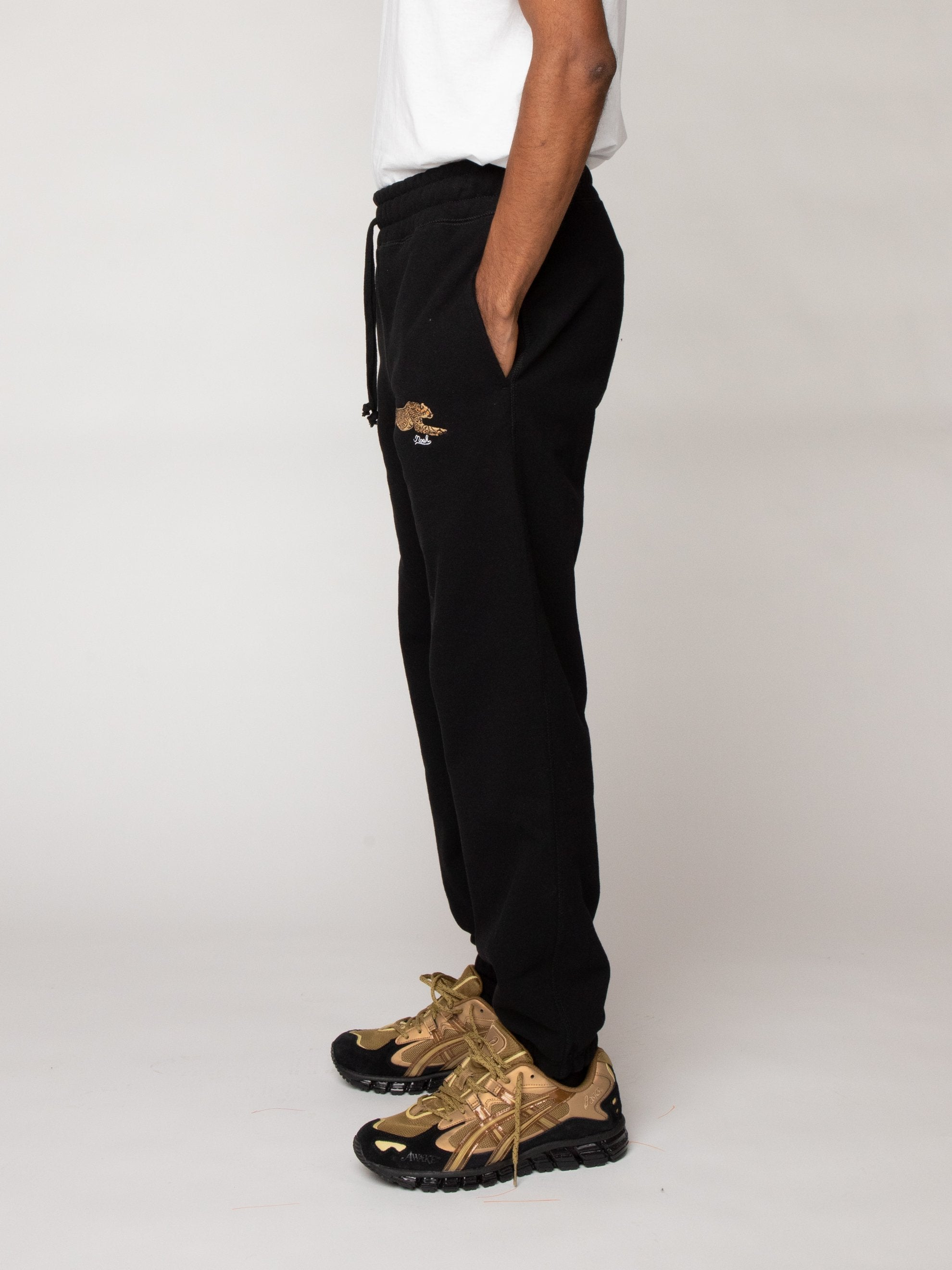 Black Cheetah Sweatpants 4