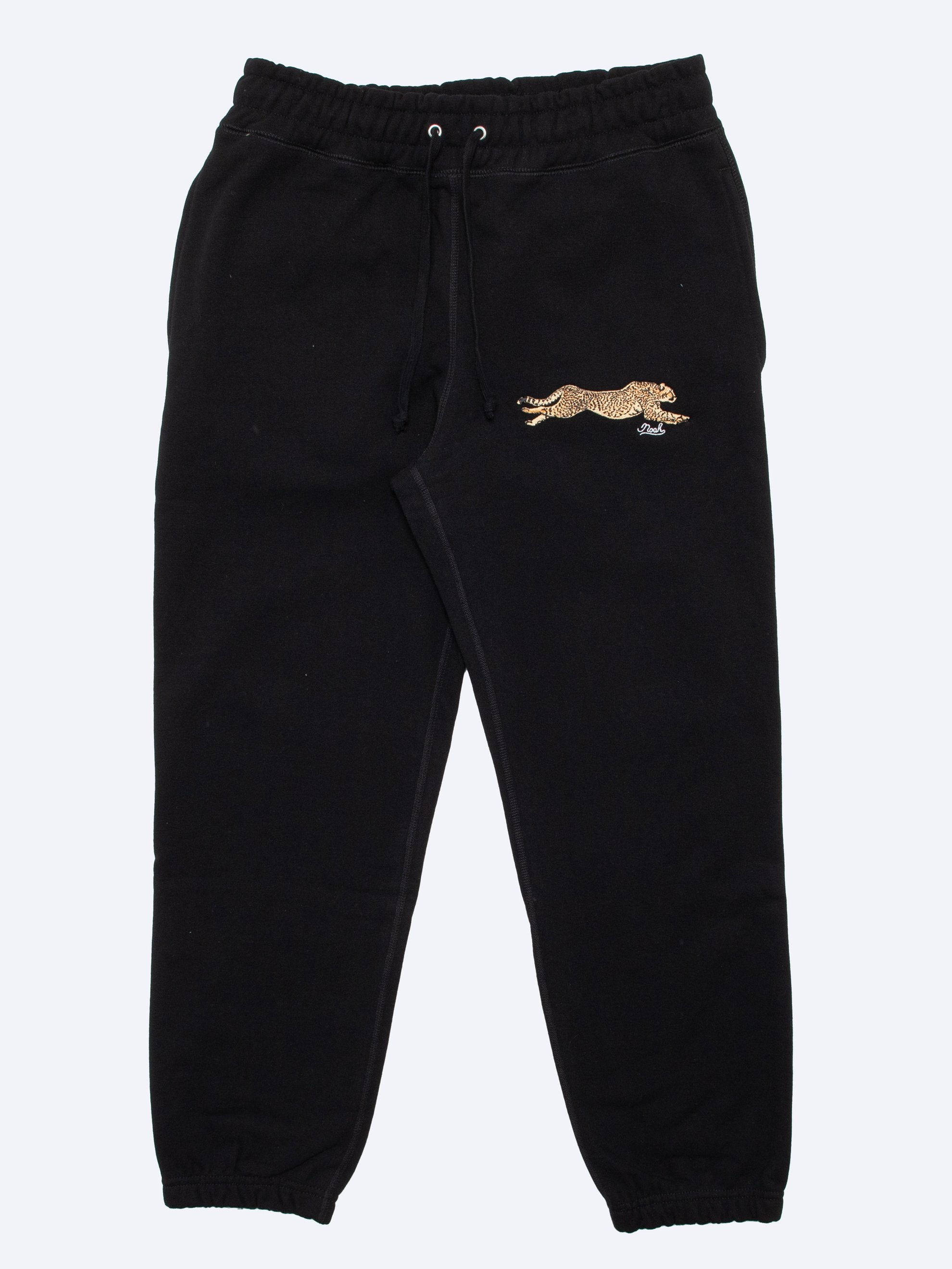 Black Cheetah Sweatpants 1