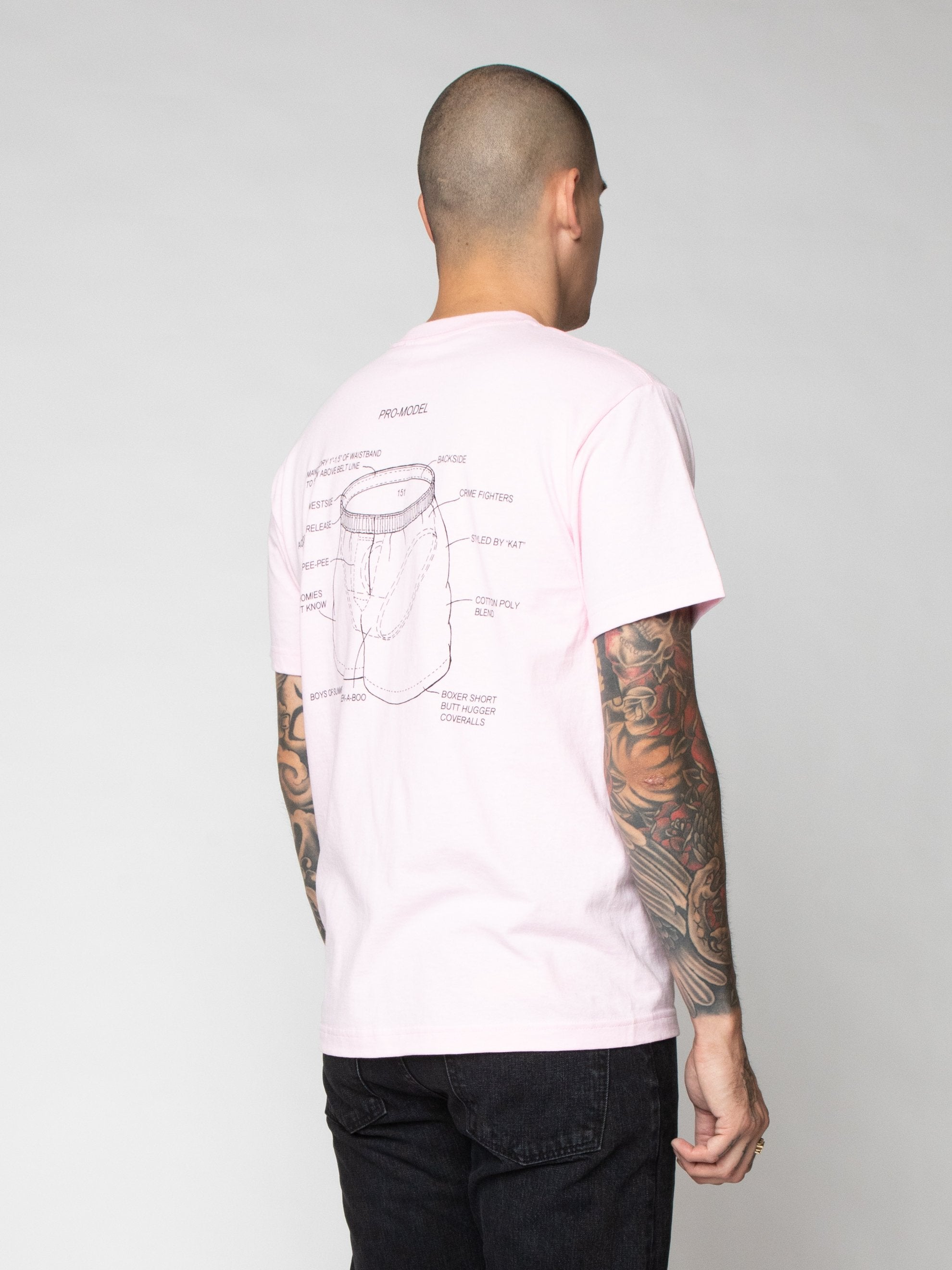 Pink Pro Model Underwear T-Shirt 5