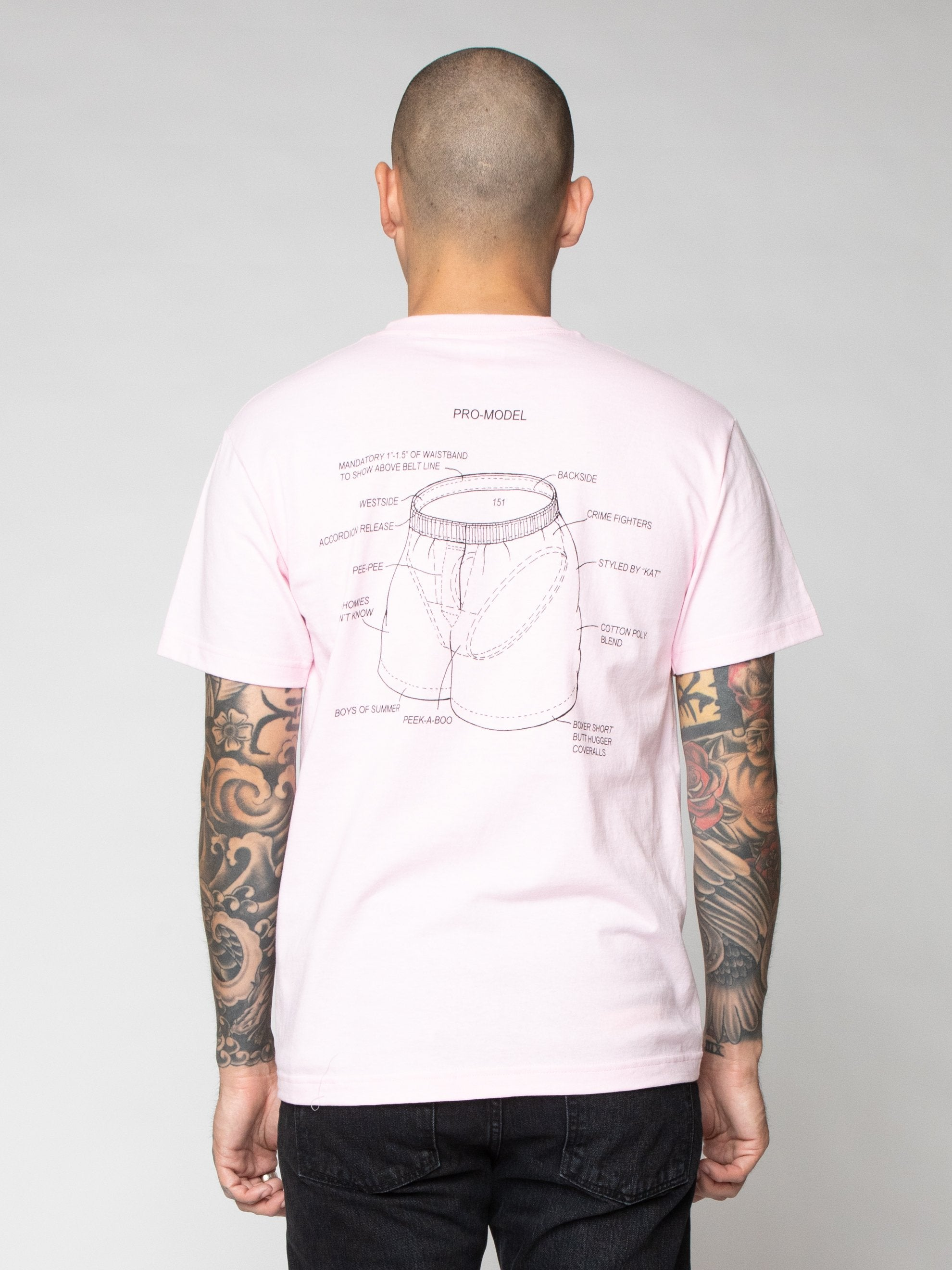 Pink Pro Model Underwear T-Shirt 6