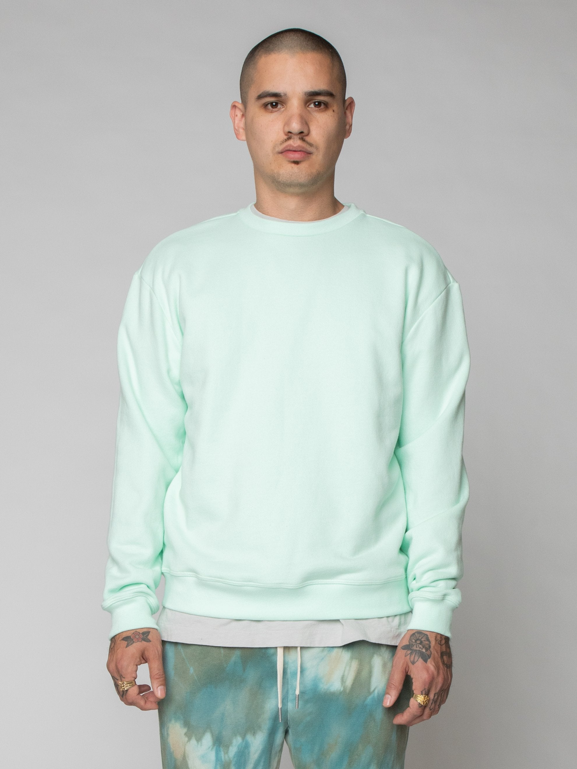 Mint Oversized Crewneck Pullover 2