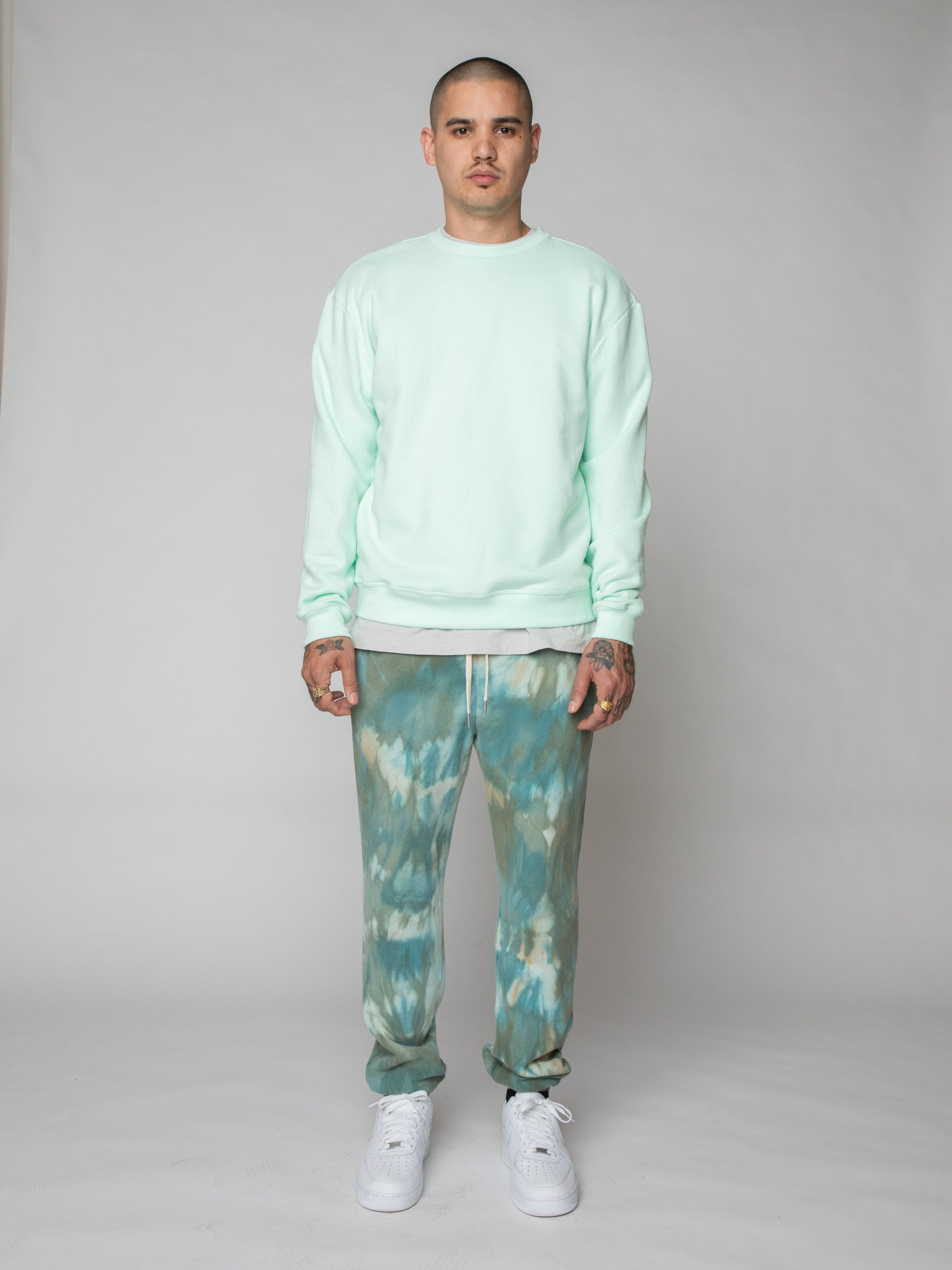 Mint Oversized Crewneck Pullover 3