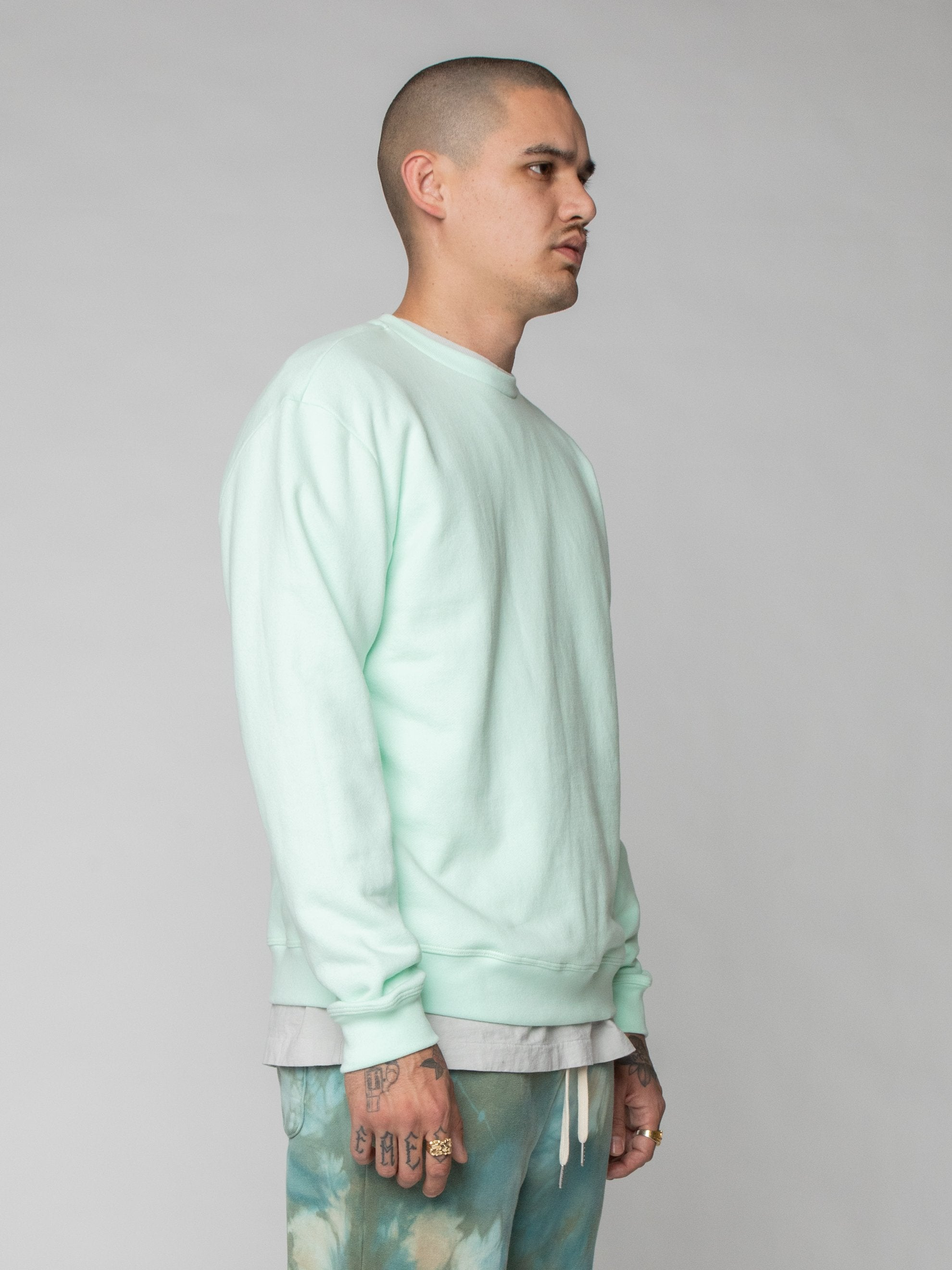 Mint Oversized Crewneck Pullover 4