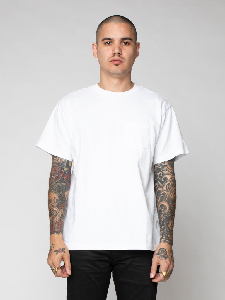 White Lucky Pocket Tee 216259727163469