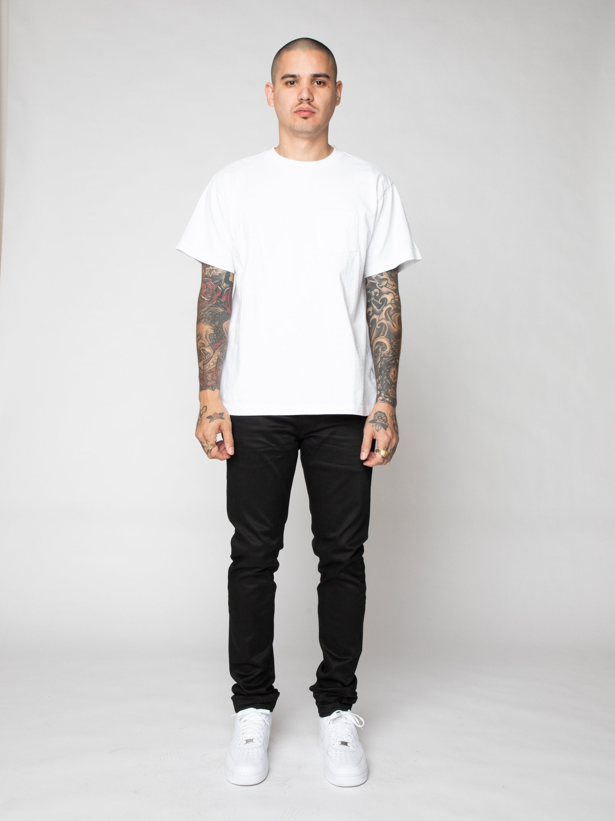 White Lucky Pocket Tee 3