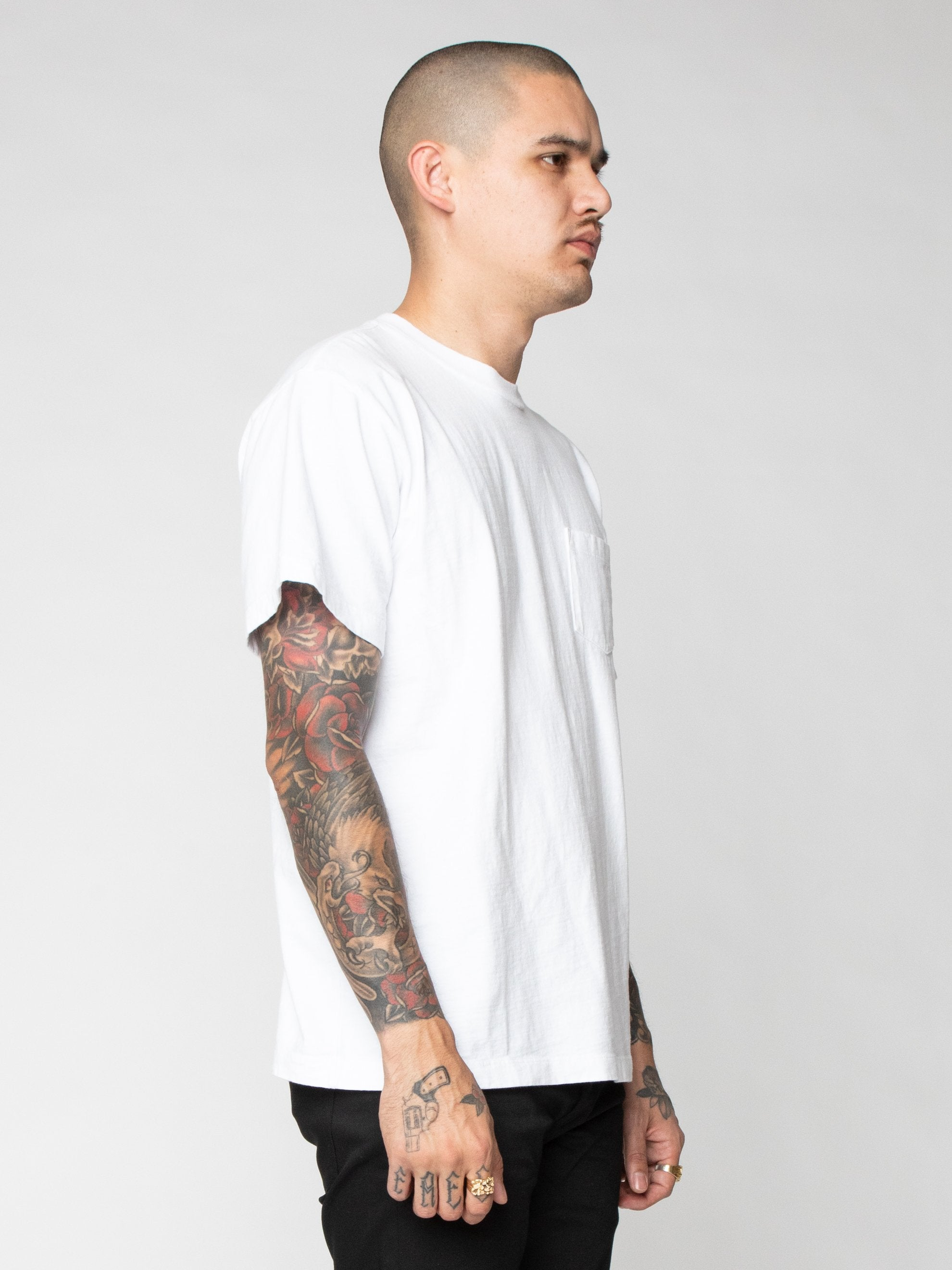 White Lucky Pocket Tee 4