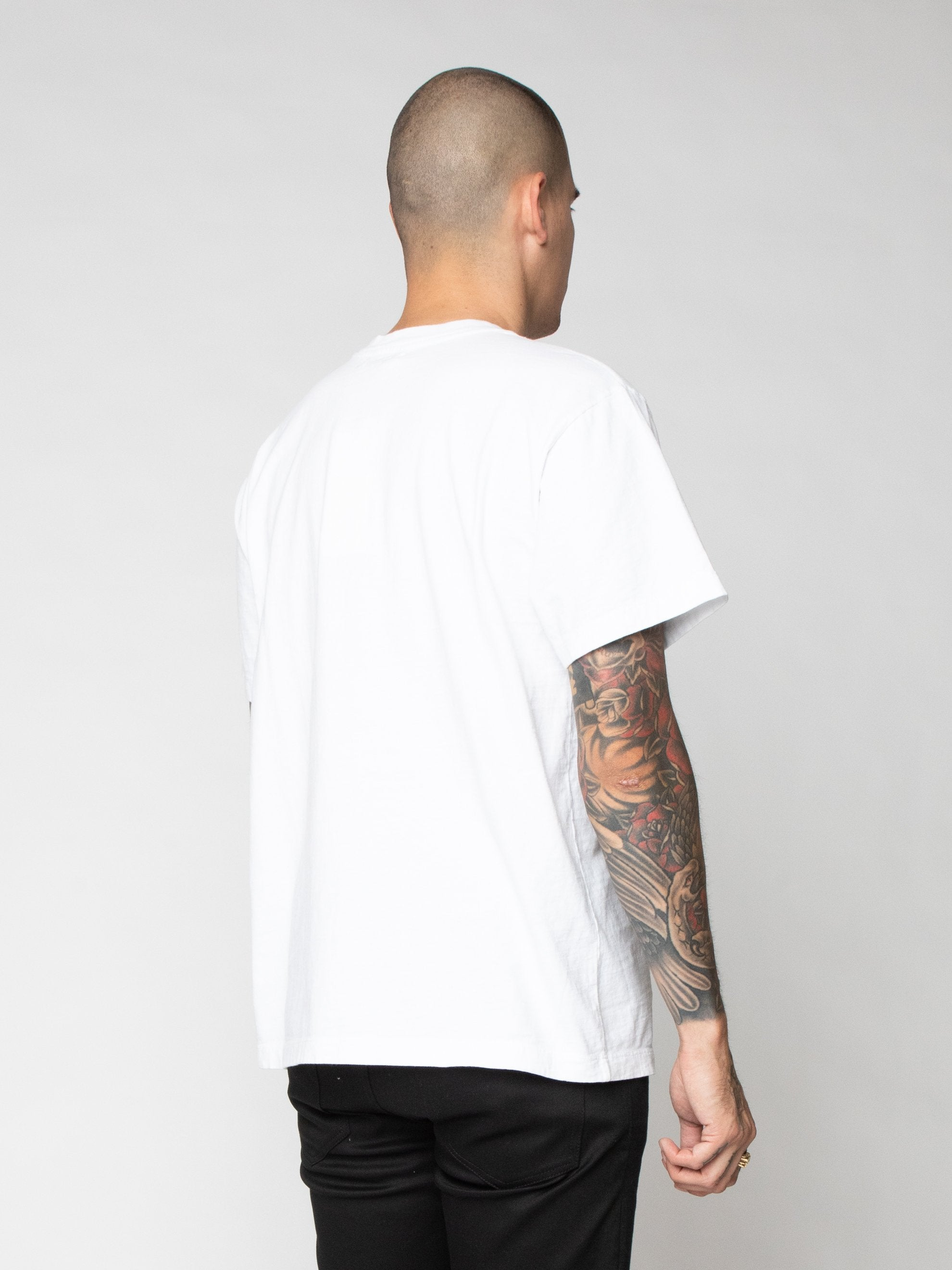 White Lucky Pocket Tee 5