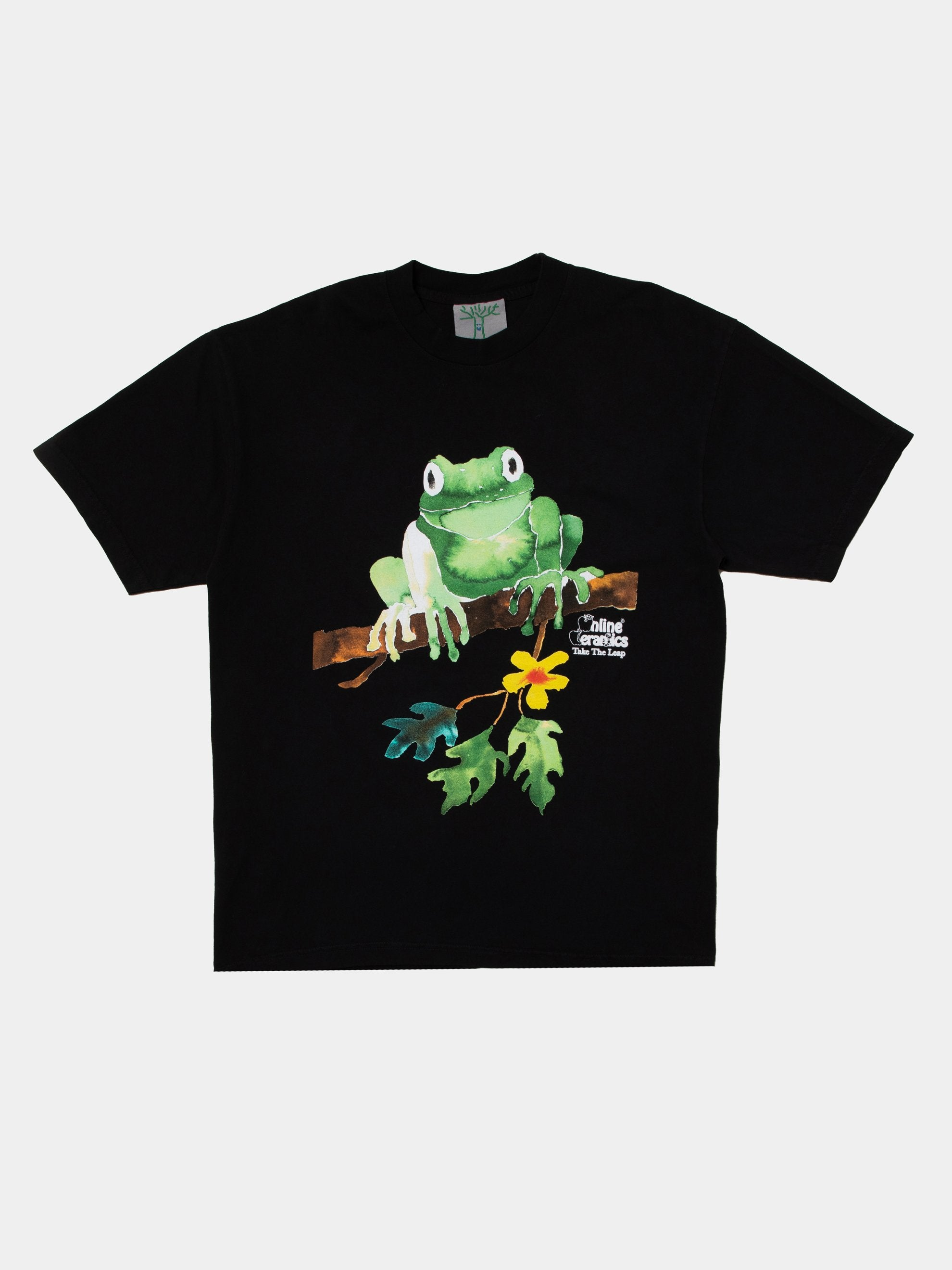 Black Tree Frog Painting Tee 1