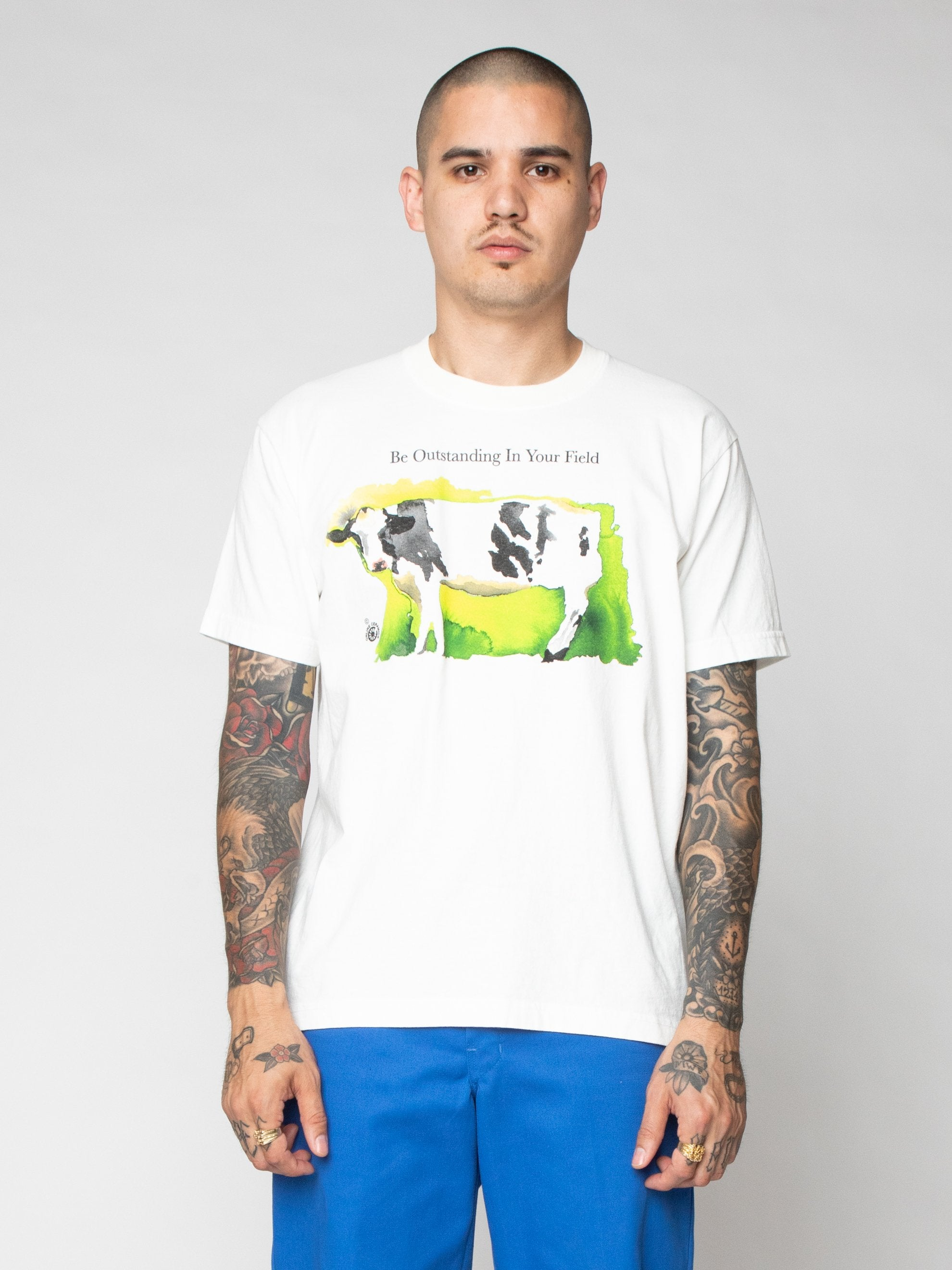 White Be Outstanding In Your Field Tee 2