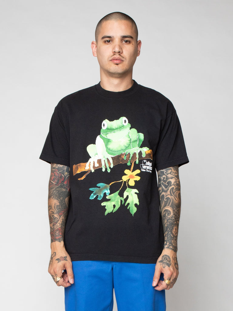 Black Tree Frog Painting Tee 216259596320845