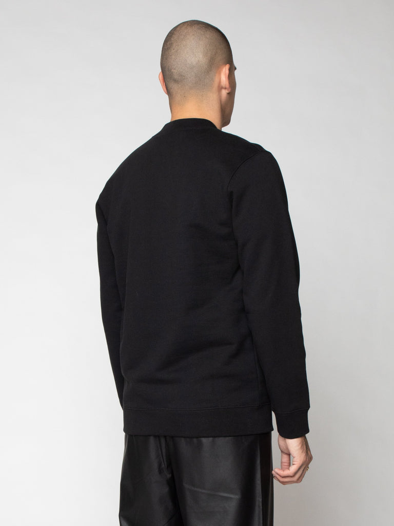 Black Basic Sweater With Sterling Patches 516259628269645