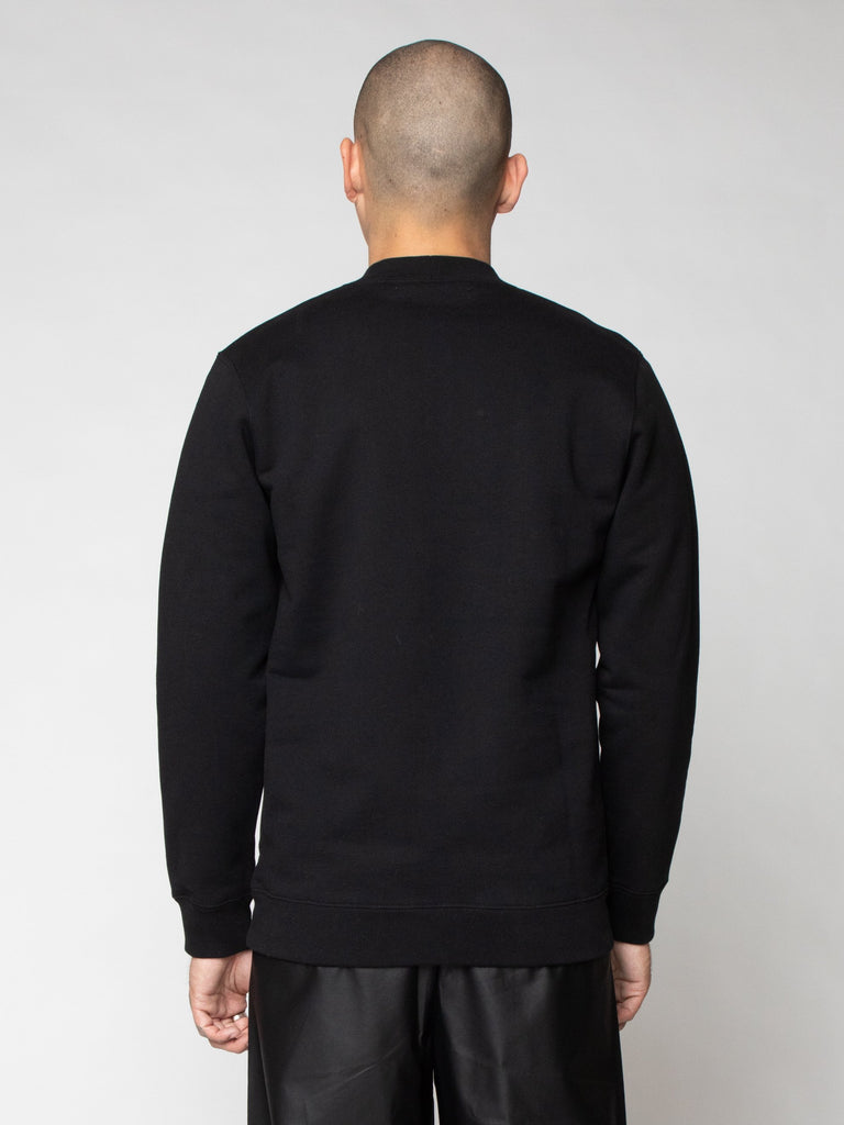 Black Basic Sweater With Sterling Patches 616259628466253