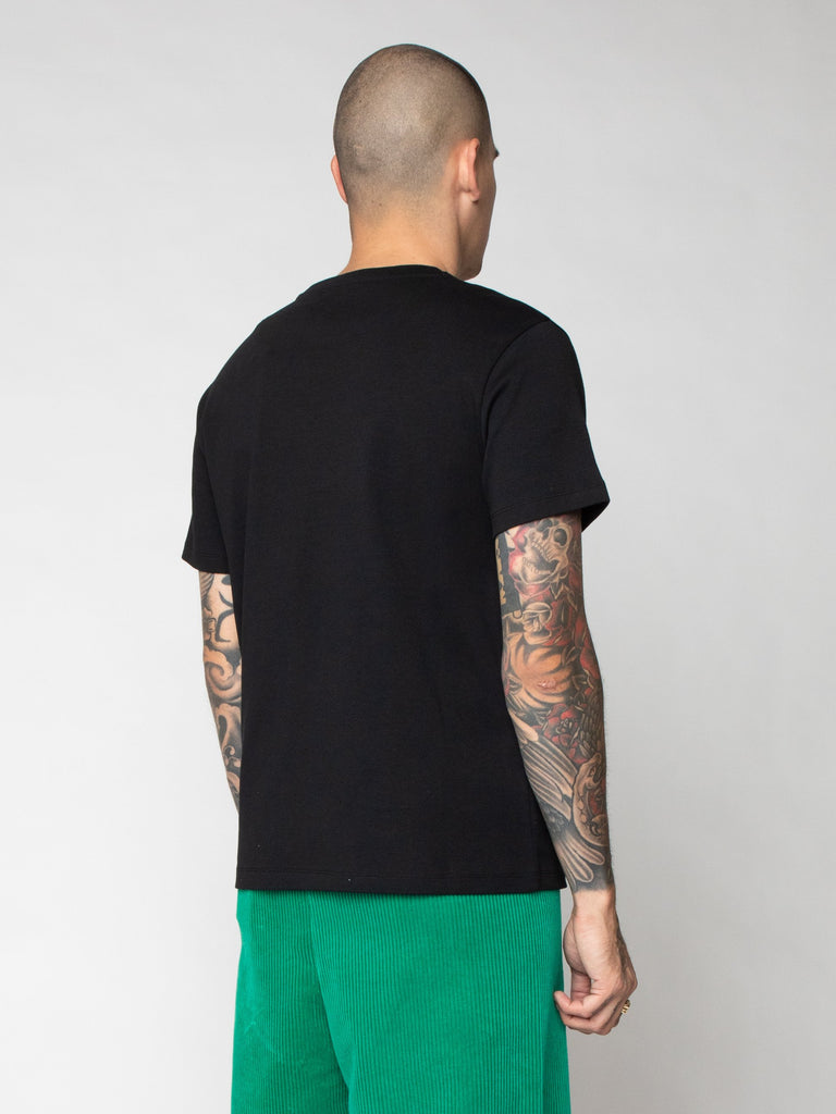 Black Slim Fit T-Shirt With Graphic Nails 516259628990541