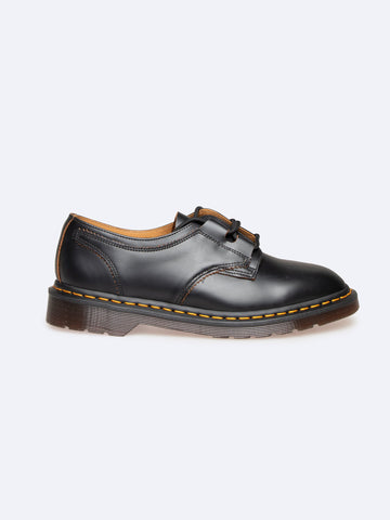 Ghillie Black Vintage Smooth Shoes